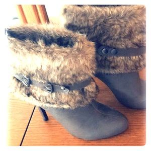 Furry Ankle Boots